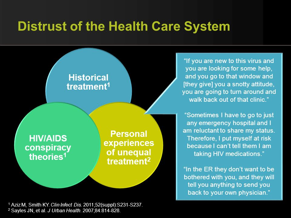 Distrust of the Health Care System