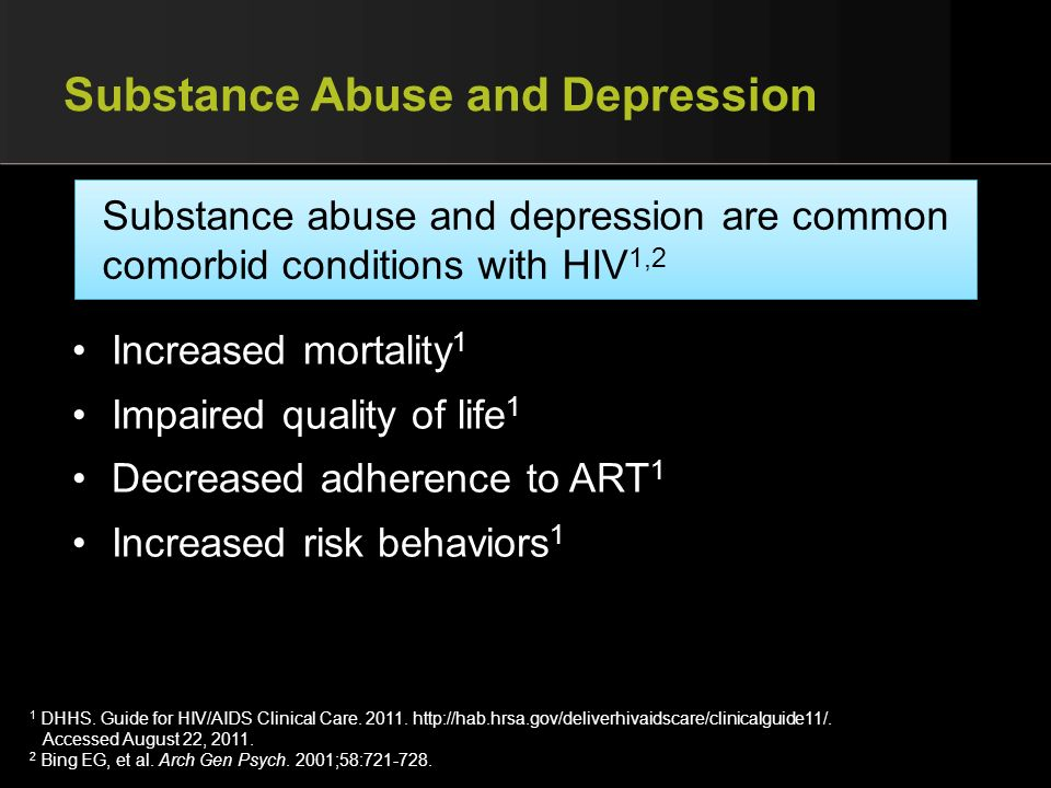 Substance Abuse and Depression