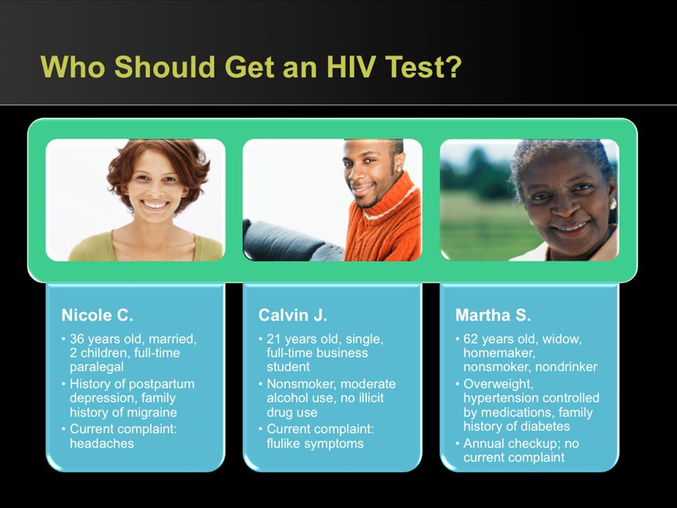 Who Should Get an HIV Test