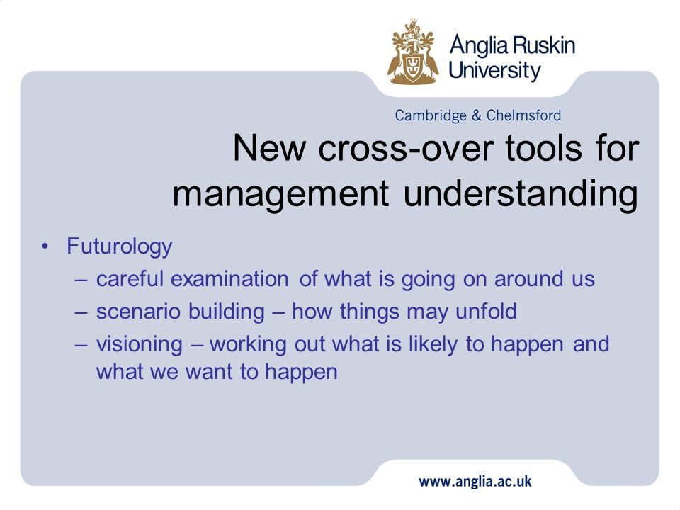 New cross-over tools for management understanding