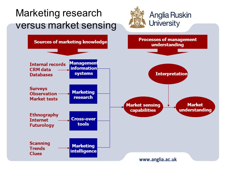 Marketing research versus market sensing