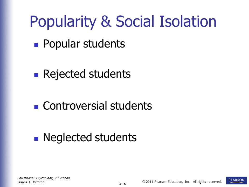Popularity & Social Isolation