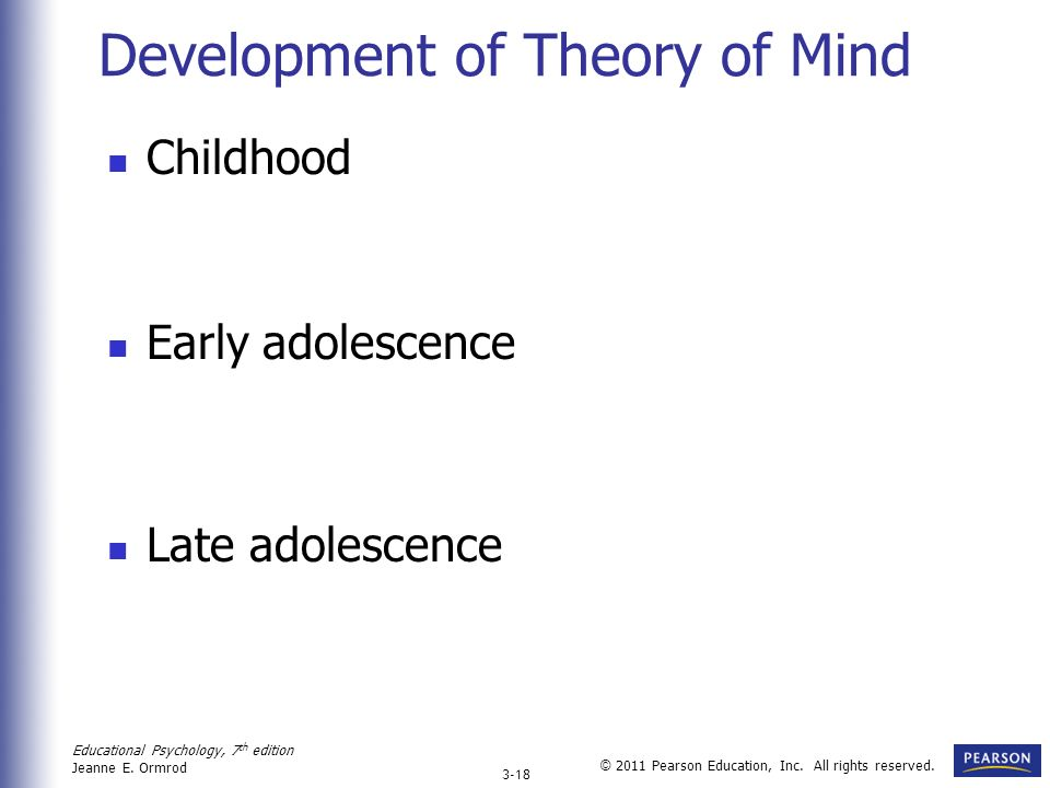 Development of Theory of Mind