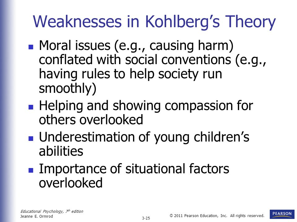 Weaknesses in Kohlberg's Theory