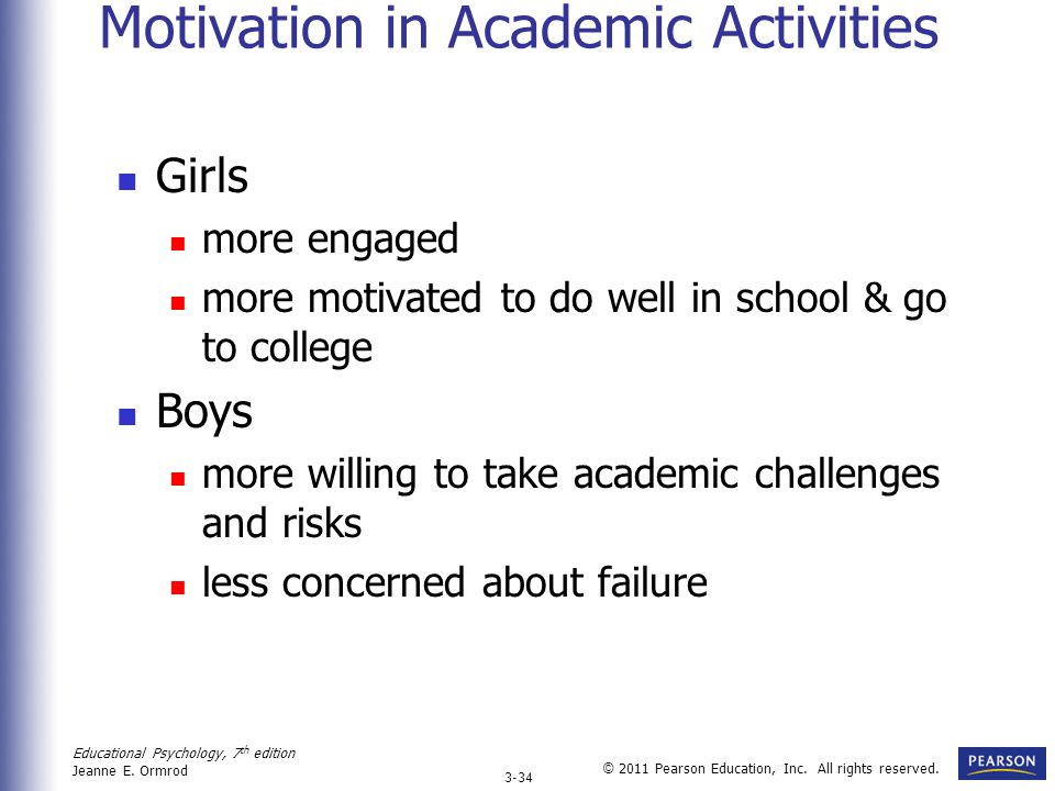Motivation in Academic Activities
