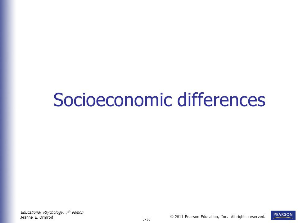 Socioeconomic differences