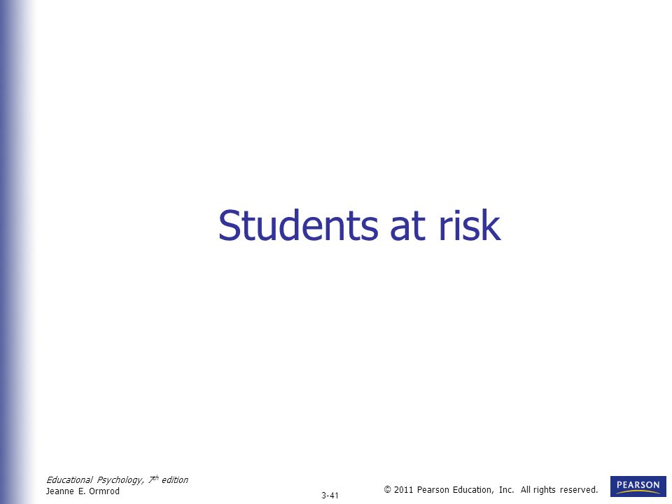 Students at risk