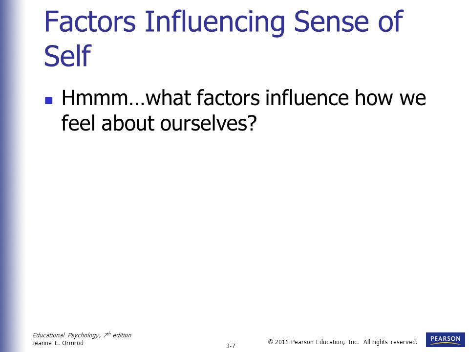Factors Influencing Sense of Self