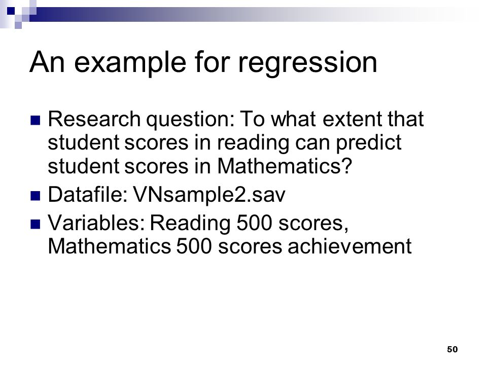 An example for regression