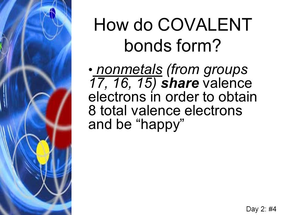 How do COVALENT bonds form