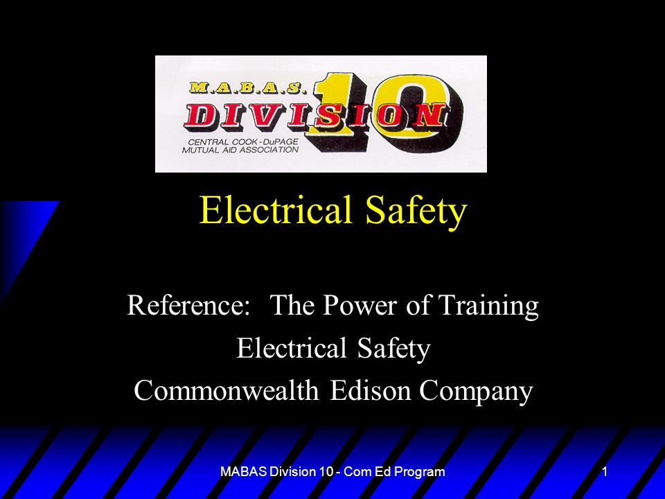 Electrical Safety Reference: The Power of Training Electrical Safety