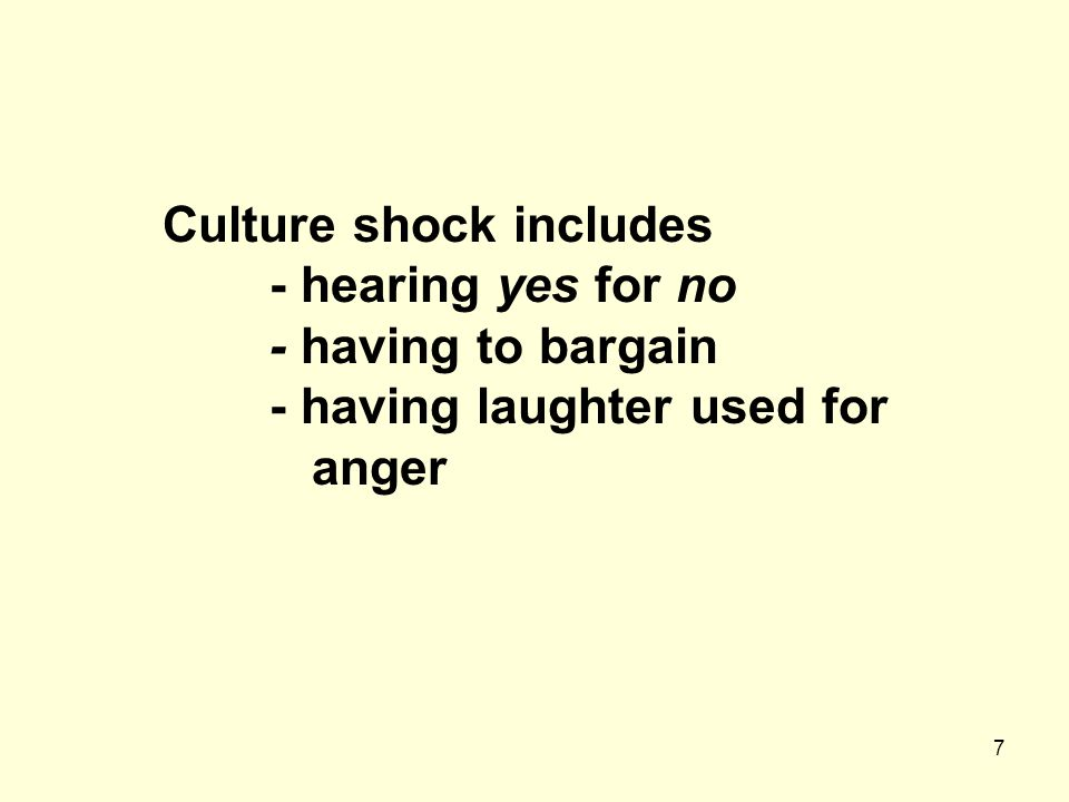 Culture shock includes