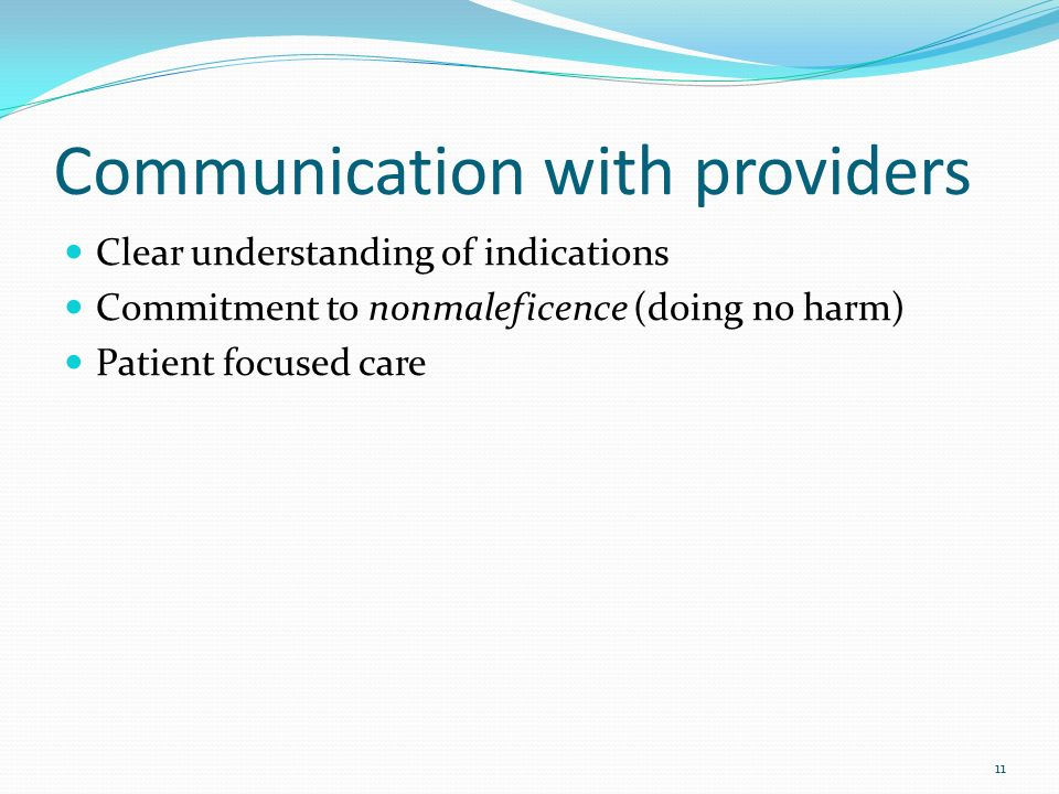 Communication with providers