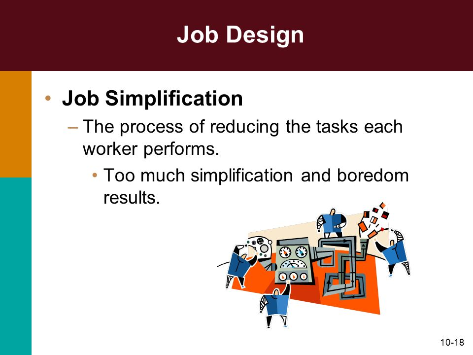 Job Design Job Simplification