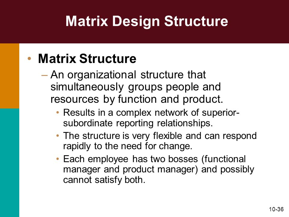 Matrix Design Structure