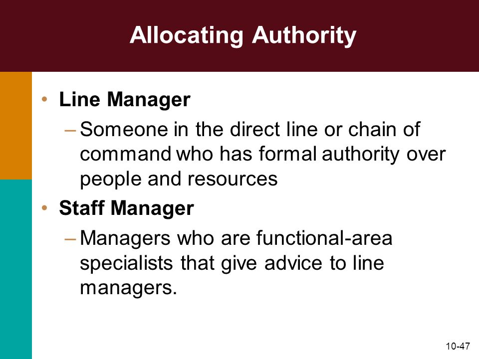 Allocating Authority Line Manager