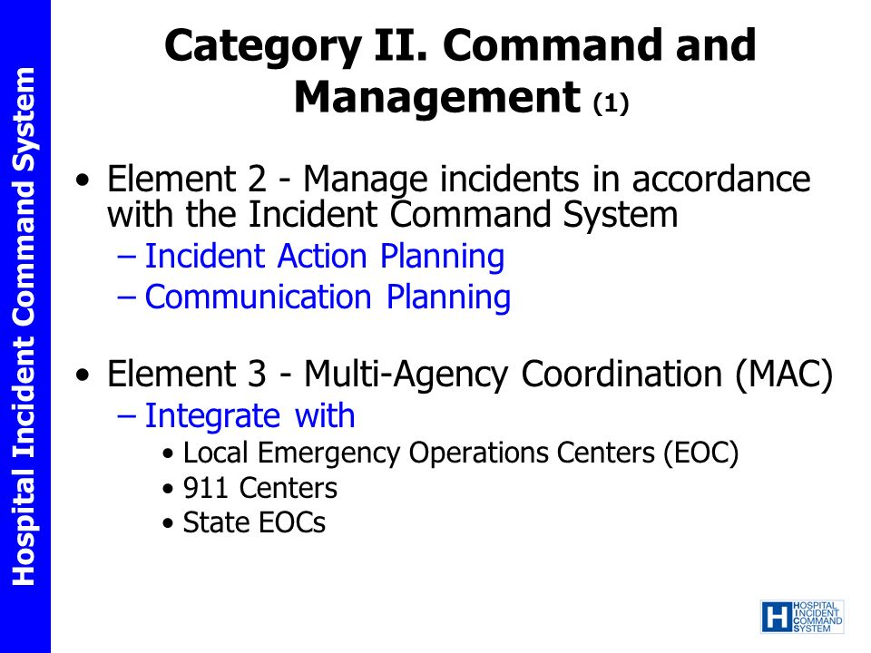 Category II. Command and Management (1)