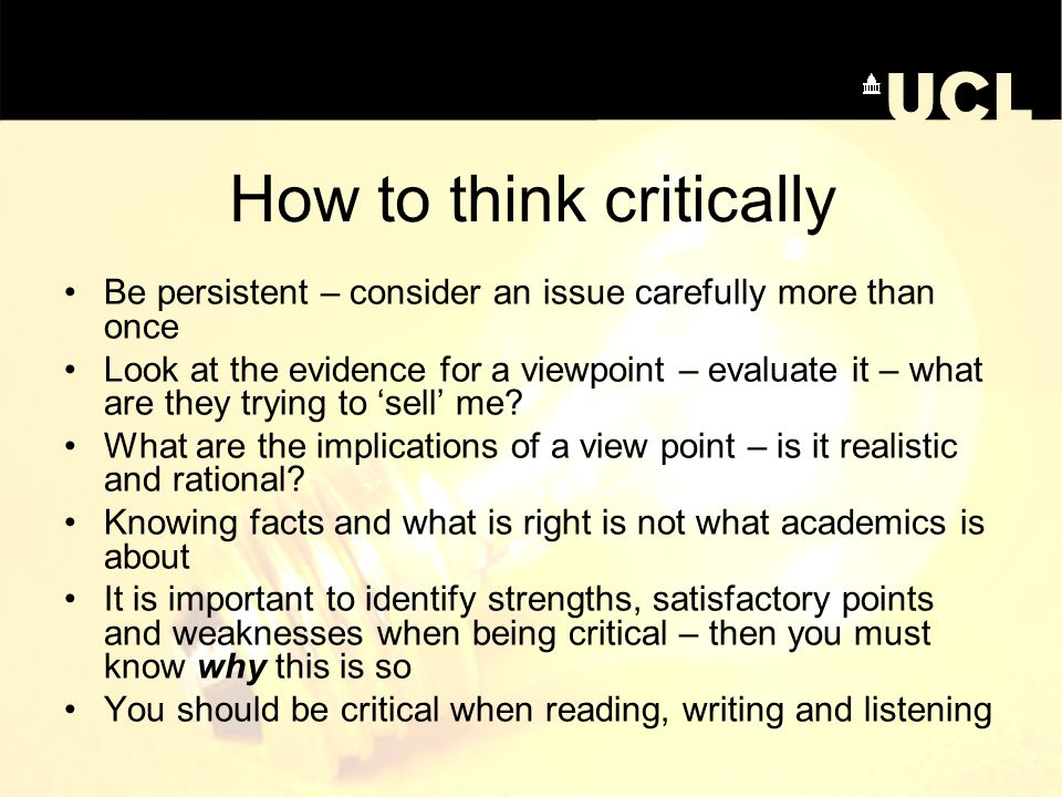 analytical critical thinking