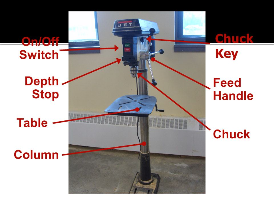 Chuck On/Off Switch Key Depth Stop Feed Handle Table Chuck Column