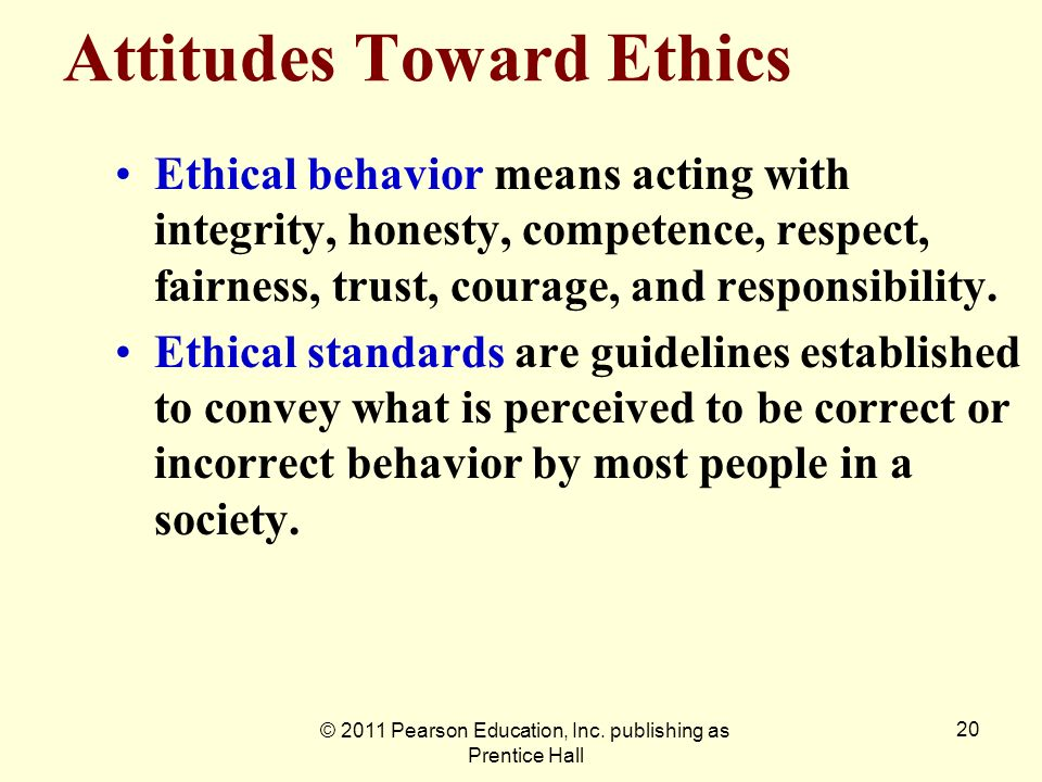 Attitudes Toward Ethics