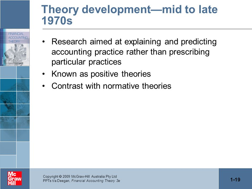Theory development—mid to late 1970s