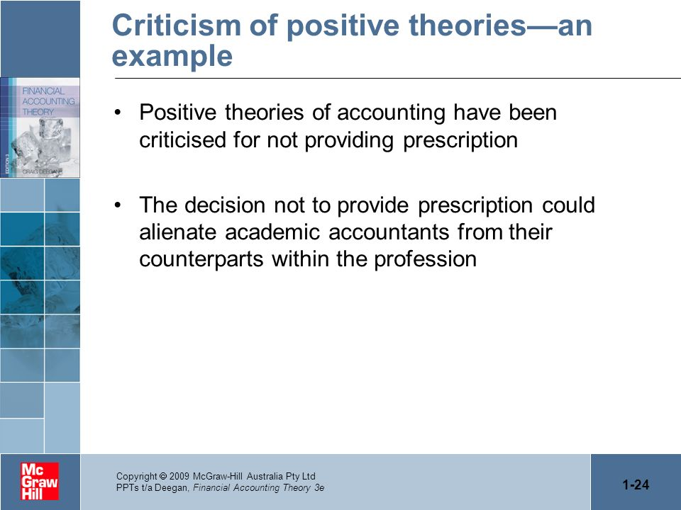 Criticism of positive theories—an example