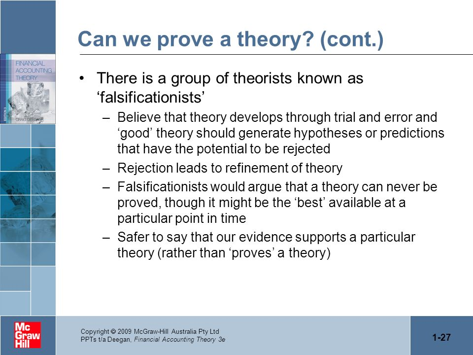Can we prove a theory (cont.)