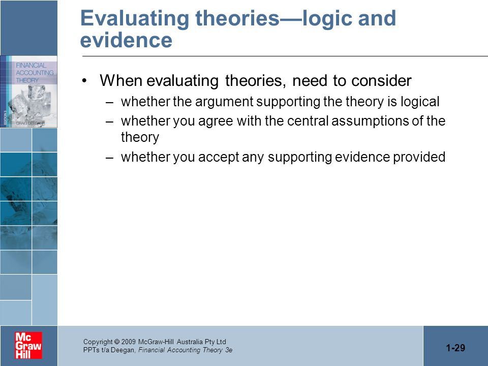 Evaluating theories—logic and evidence
