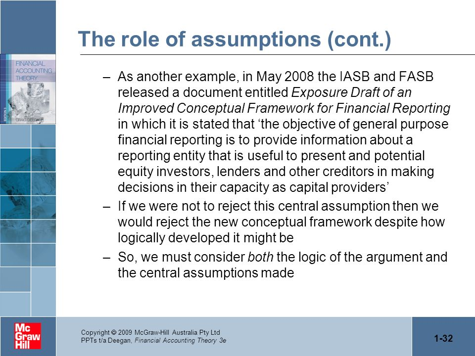 The role of assumptions (cont.)