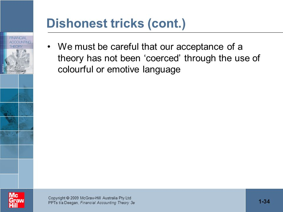 Dishonest tricks (cont.)