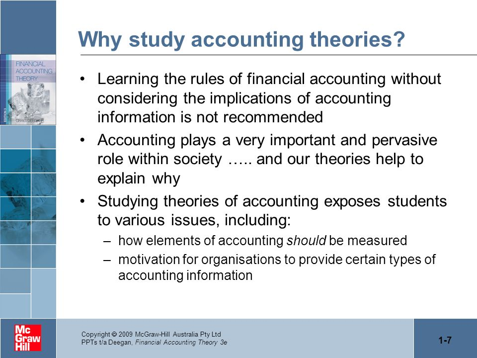 Why study accounting theories