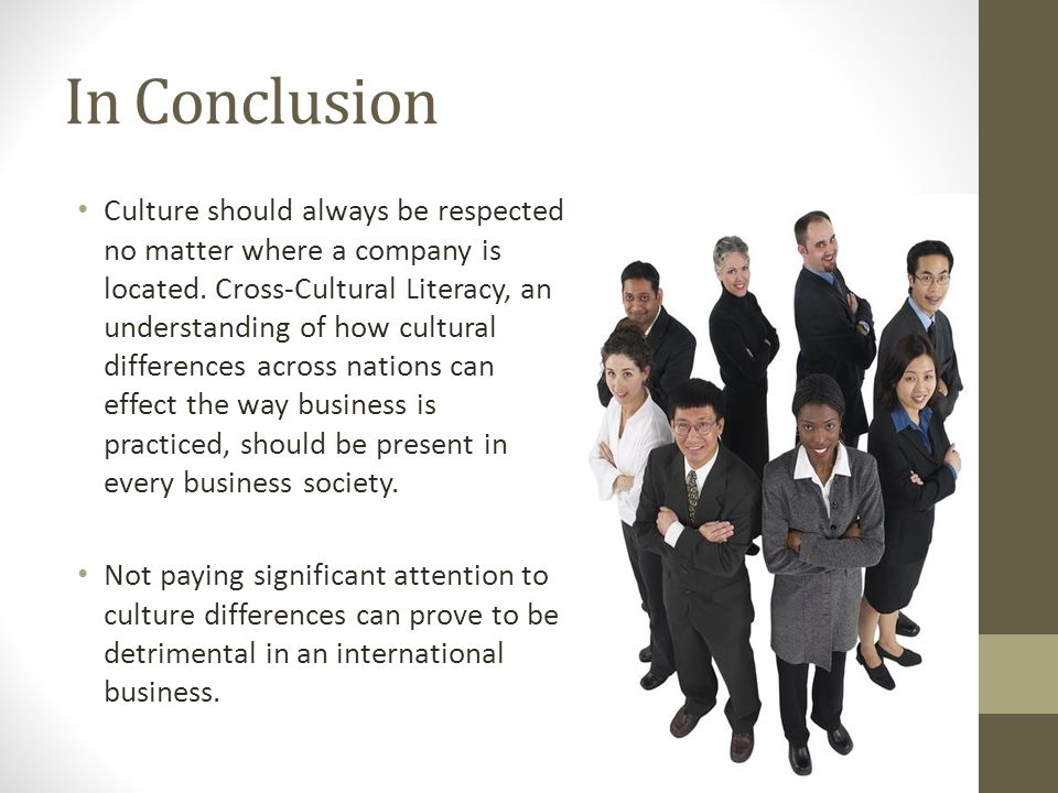 cross country differences in cultural demographic and Cross-cultural differences in management if you talk about the culture can tell that it is an issue that causes a great impact on society since each person have different ways of seeing and resolve cross-cultural country report communication varies from state to state and country to country.