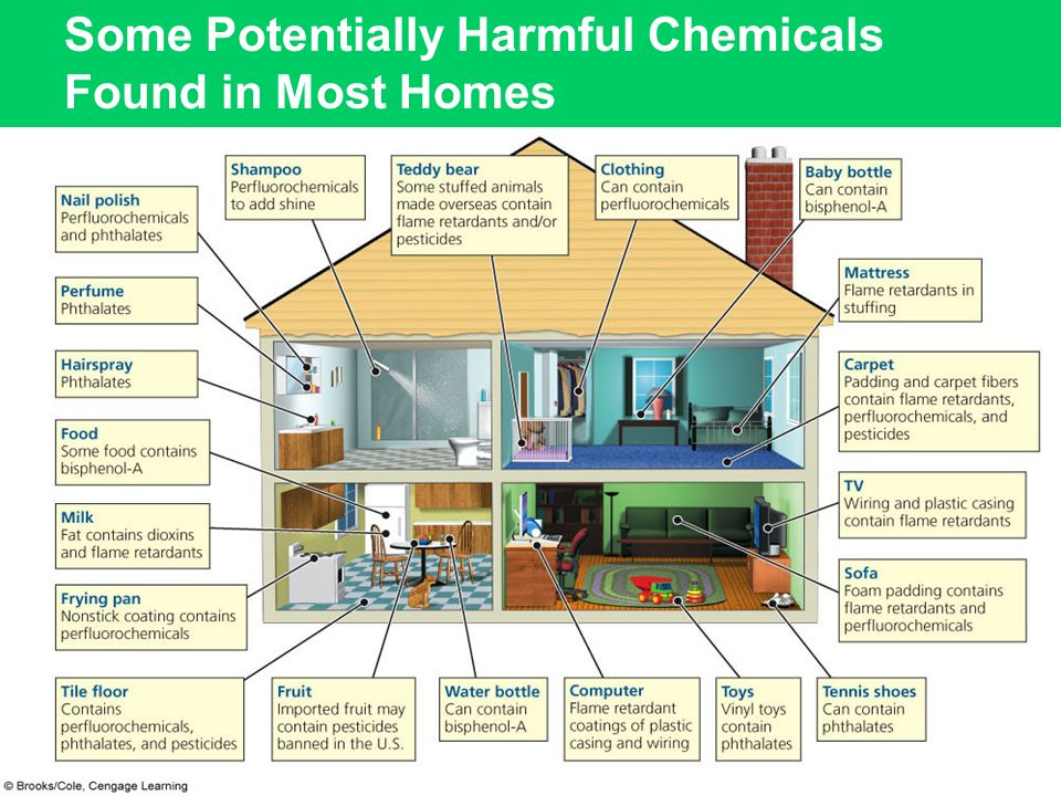 Some Potentially Harmful Chemicals Found in Most Homes