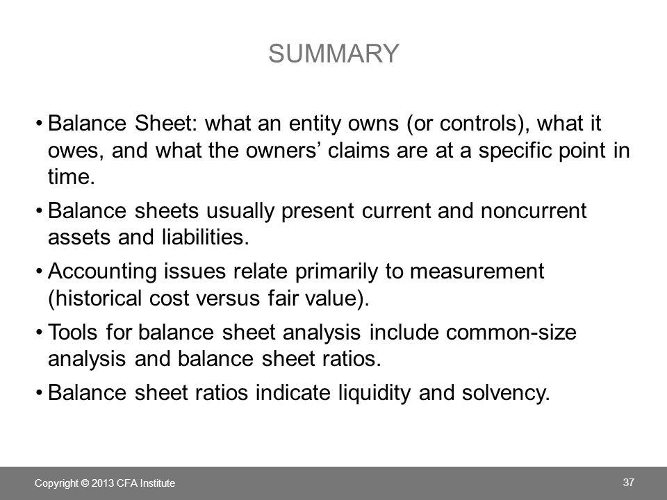 chapter 5 understanding balance sheets ppt download