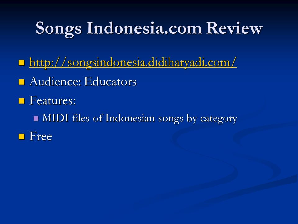 Songs Indonesia.com Review