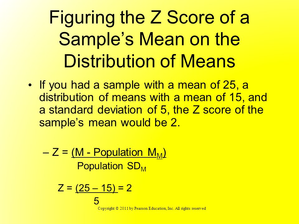 Figuring the Z Score of a Sample's Mean on the Distribution of Means