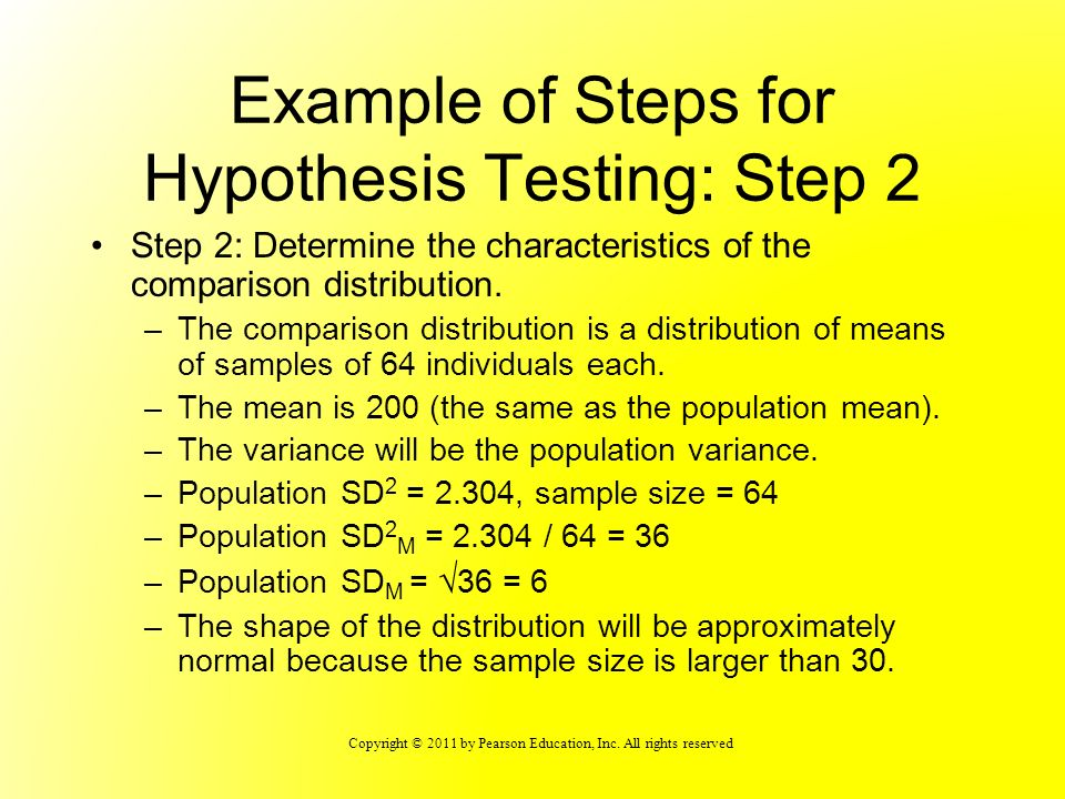 Example of Steps for Hypothesis Testing: Step 2
