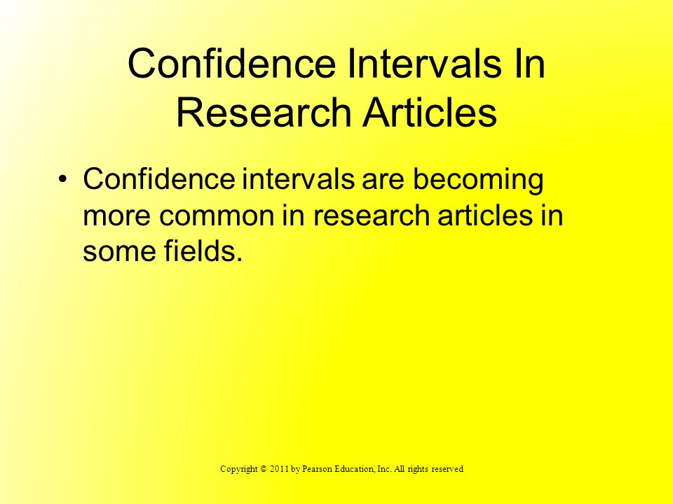 Confidence Intervals In Research Articles
