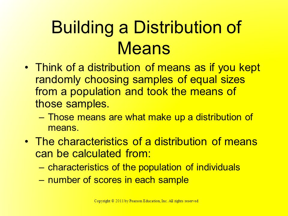 Building a Distribution of Means