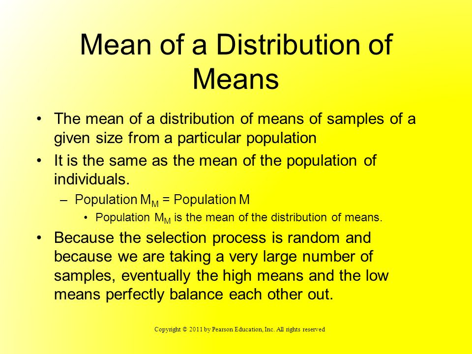 Mean of a Distribution of Means