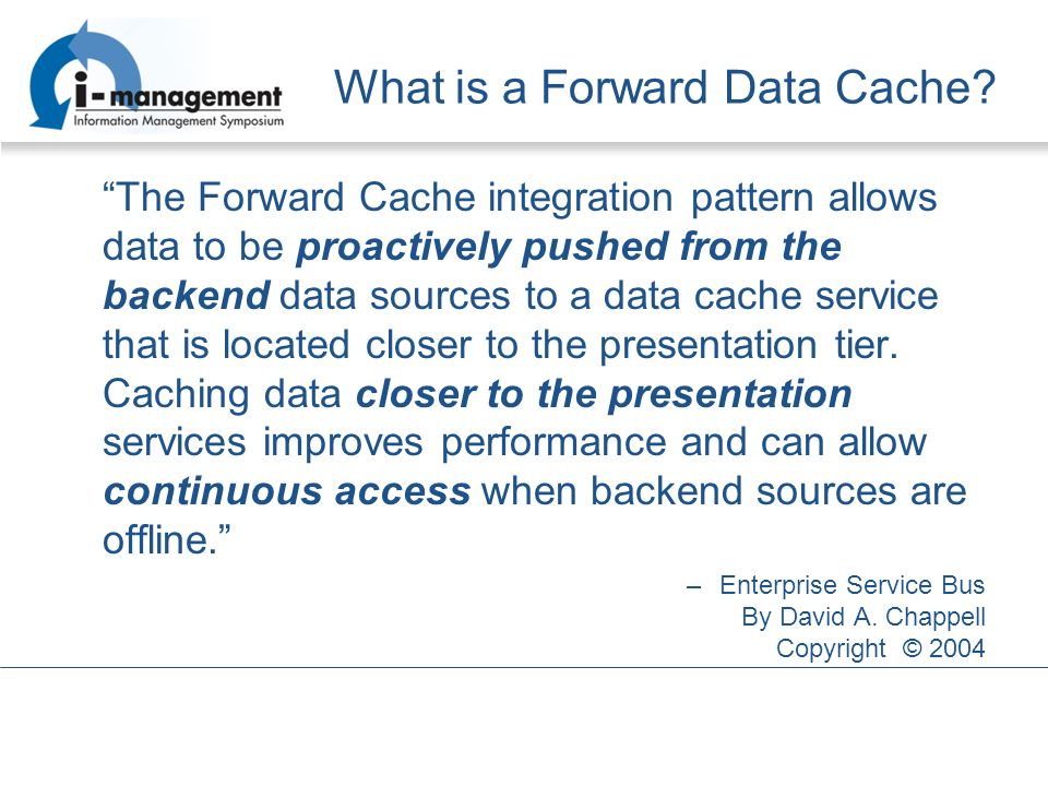 What is a Forward Data Cache