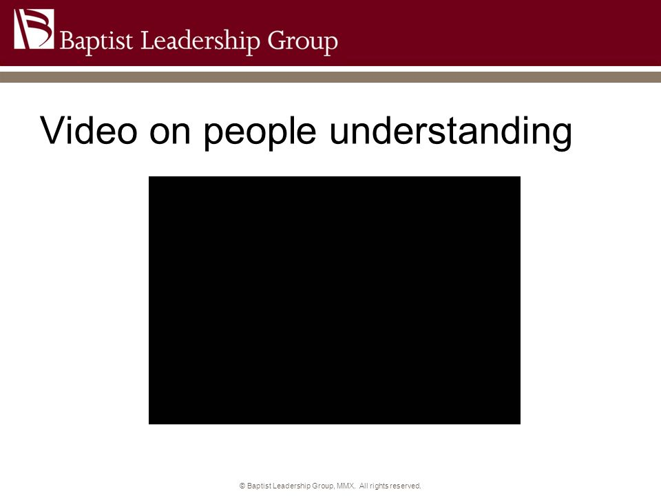 Video on people understanding