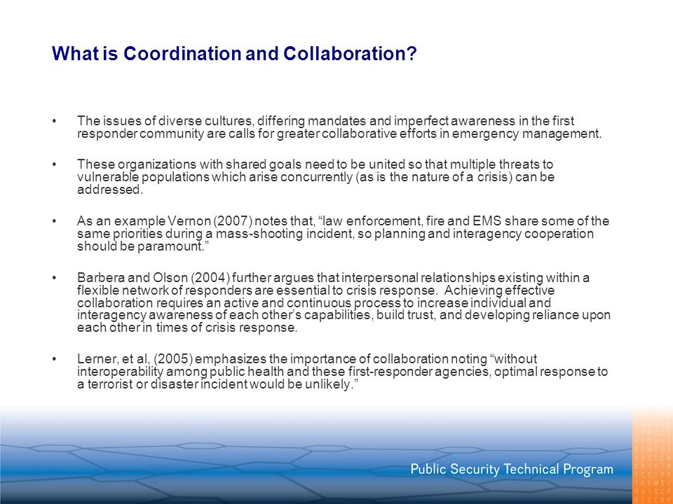 What is Coordination and Collaboration
