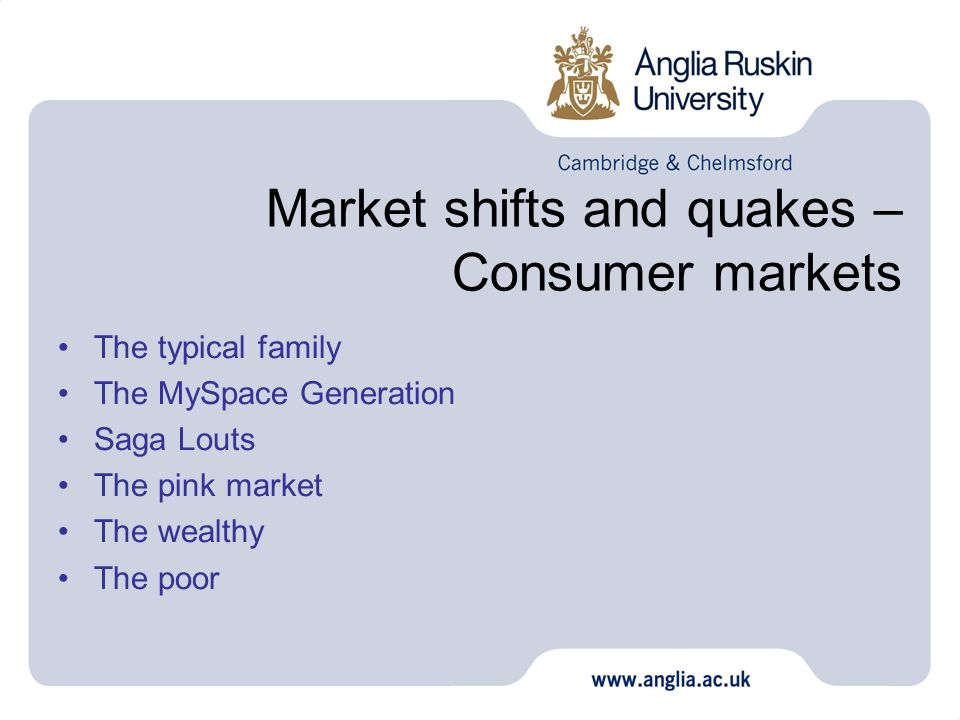 Market shifts and quakes – Consumer markets