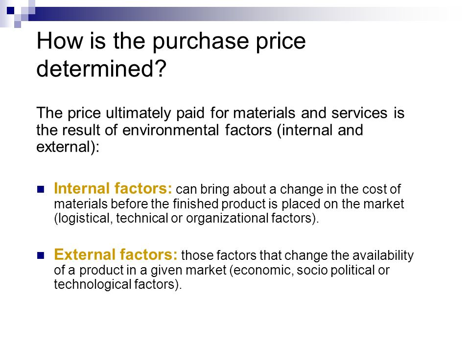 how is the price of a product determined