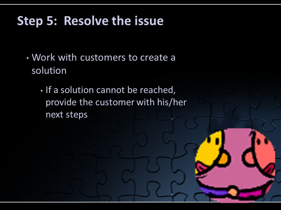 Step 5: Resolve the issue