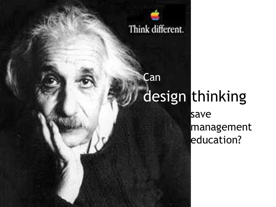 Can design thinking save management education