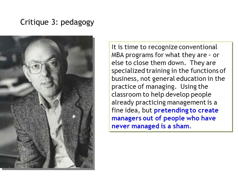 Critique 3: pedagogy