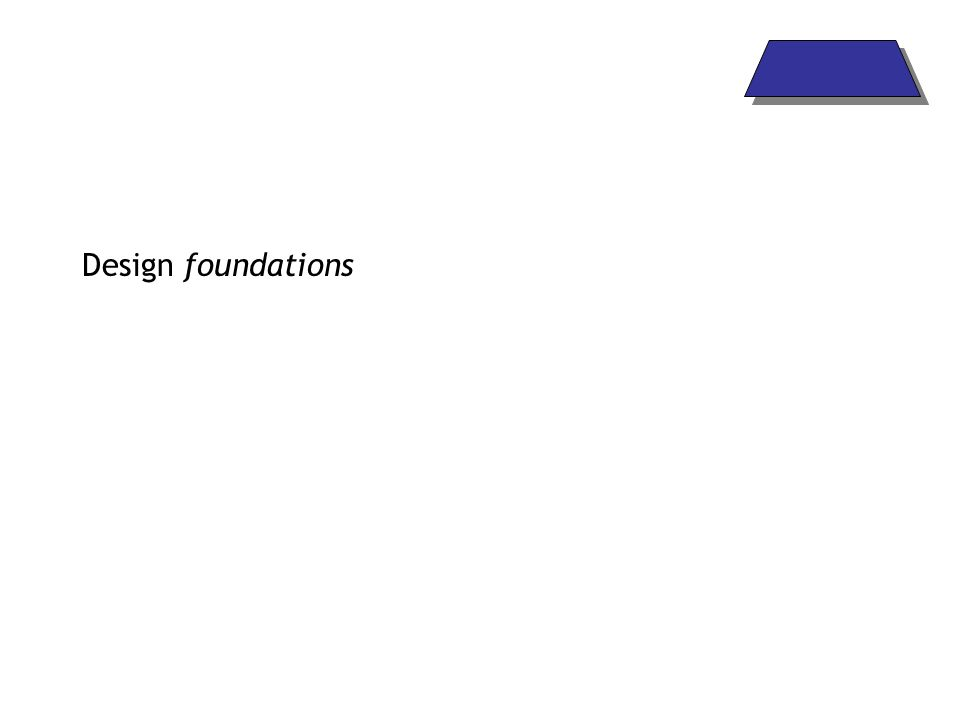 Design foundations