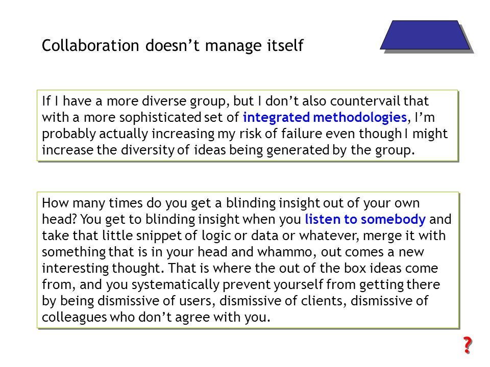 Collaboration doesn't manage itself